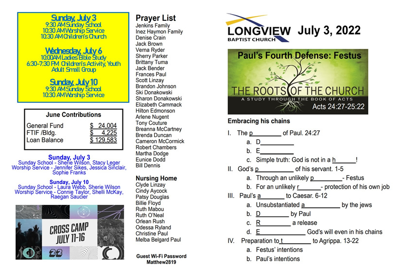 ff857163ea2 Here is this week s Worship Guide. Learn about this week s Schedule